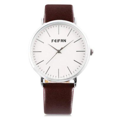 FEIFAN F100 - 1G Concise Nail Scale Men Quartz WatchMens Watches<br>FEIFAN F100 - 1G Concise Nail Scale Men Quartz Watch<br><br>Band material: Leather<br>Band size: 24 x 2 cm / 9.45 x 0.79 inches<br>Brand: FEIFAN<br>Case material: Alloy<br>Clasp type: Pin buckle<br>Dial size: 4 x 4 x 1 cm / 1.57 x 1.57 x 0.39 inches<br>Display type: Analog<br>Movement type: Quartz watch<br>Package Contents: 1 x FEIFAN F100 - 1G Men Quartz Watch<br>Package size (L x W x H): 25.00 x 5.00 x 2.00 cm / 9.84 x 1.97 x 0.79 inches<br>Package weight: 0.074 kg<br>Product size (L x W x H): 24.00 x 4.00 x 1.00 cm / 9.45 x 1.57 x 0.39 inches<br>Product weight: 0.034 kg<br>Shape of the dial: Round<br>Watch color: Silver + Brown, Rose Gold + Brown, Silver + Black, Black + Rose Gold<br>Watch style: Fashion<br>Watches categories: Male table<br>Wearable length: 18.3 - 21.8 cm / 7.20 - 8.58 inches