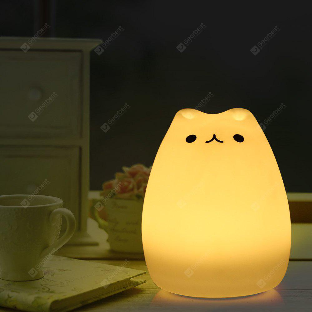Cartoon Cat LED Night Light - $11.70 Free Shipping|GearBest.com