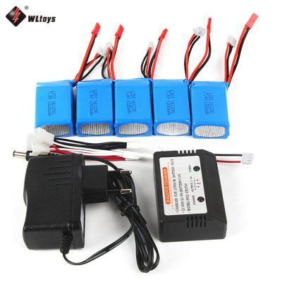Original WLtoys 1-for-5 7.4V 1200mAh LiPo Balance Charger Set