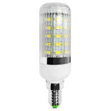 E14 12W SMD - 5630 36 - LEDs 1100Lm Light 6000 - 6500K 220 - 240V Stripy Shaded Corn Lamp