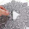Flower Style Personality Color Sticker for MacBook 13.3 inch - BLACK