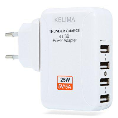 KELIMA  4 USB Power Dock Travel Adapter Wall Charger