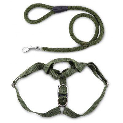 Pet Dog Nylon Halter Harness Traction Rope Training Lead