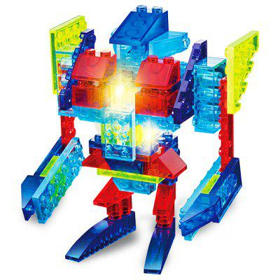 6 in 1 Anime Figure Style Cartoon Building Brick with Light