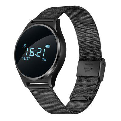 M7 Smart Watch for Android iOS System SmartphonesSmart Watches<br>M7 Smart Watch for Android iOS System Smartphones<br><br>Alert type: Vibration<br>Band material: Metal<br>Band size: 23 x 2 cm / 9.06 x 0.79 inches<br>Battery  Capacity: 90mAh<br>Bluetooth calling: Phone call reminder<br>Bluetooth Version: Bluetooth 4.0<br>Built-in chip type: NRF51822<br>Case material: Alloy<br>Charging Time: About 2hours<br>Compatability: Android 4.3 / iOS 8.0 and above systems<br>Compatible OS: IOS, Android<br>Dial size: 3.9 x 3.9 x 1.14 cm / 1.54 x 1.54 x 0.45 inches<br>Find phone: Yes<br>Groups of alarm: 3<br>Health tracker: Heart rate monitor,Pedometer,Sedentary reminder,Sleep monitor<br>IP rating: Life Waterproof<br>Language: English,French,German,Italian,Japanese,Korean,Russian,Simplified Chinese,Spanish,Vietnamese<br>Messaging: Message reminder<br>Notification: Yes<br>Notification type: Twitter, Facebook, WhatsApp, Wechat<br>Operating mode: Touch Screen<br>Other Function: Bluetooth, Alarm, Waterproof<br>Package Contents: 1 x M7 Smart Watch, 1 x Charging Cable, 1 x English User Manual<br>Package size (L x W x H): 10.00 x 7.00 x 7.00 cm / 3.94 x 2.76 x 2.76 inches<br>Package weight: 0.1220 kg<br>People: Female table,Male table<br>Product size (L x W x H): 23.00 x 3.90 x 1.20 cm / 9.06 x 1.54 x 0.47 inches<br>Product weight: 0.0280 kg<br>RAM: 32KB<br>Remote control function: Remote Camera<br>ROM: 256K<br>Screen: OLED<br>Screen resolution: 64 x 64<br>Screen size: 0.96 inch<br>Shape of the dial: Round<br>Standby time: 15 Days<br>Type of battery: Li-polymer Battery<br>Waterproof: Yes