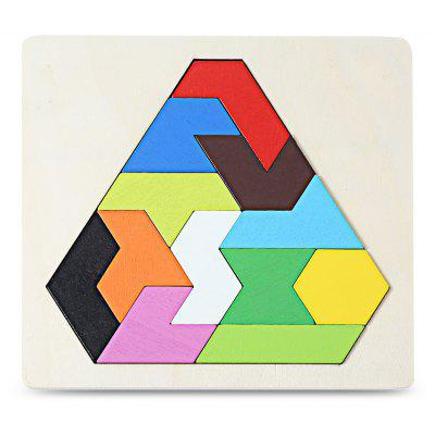 Wooden 3D Geometry Stacking Block Puzzle