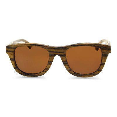 Unisex Wooden Frame UV400 Polarized Sunglasses Goggle