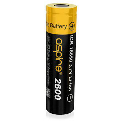 Original Aspire 2600mAh Rechargeable ICR 18650 Battery