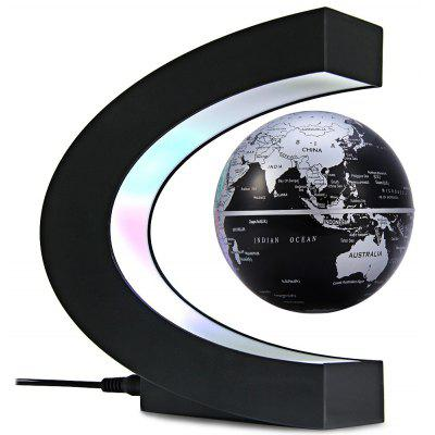 C Shape Magnetic Levitation Floating Globe World Map with Colorful LED Light