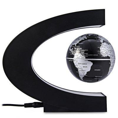Купить со скидкой C Shape Magnetic Levitation Floating Globe World Map with LED Light Decoration for Home Office