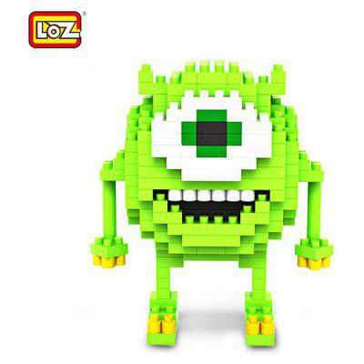 LOZ 180 Pcs M - 9162 Anime Monsters University Mike Building Block Educational Assembling Boy Girl Gift for Sparking Imagination