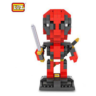 LOZ 280Pcs L - 9522 Deadpool Action Figure Building Block Educational Toy for Brain Thinking