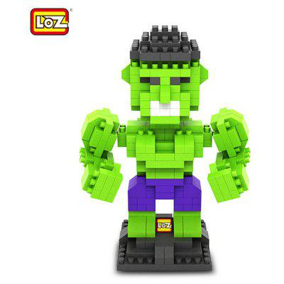 LOZ 290Pcs L - 9451 The Avengers Hulk Building Block Toy for Enhancing Social Cooperation Ability