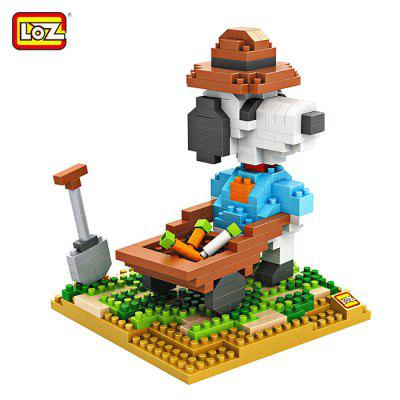 LOZ No. 9526 Snoopy Farm Working Diamond Block Toy Block Intelligent Toy Fun Game