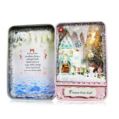 DIY Miniature Box Design Winter Idea Art Handicraft