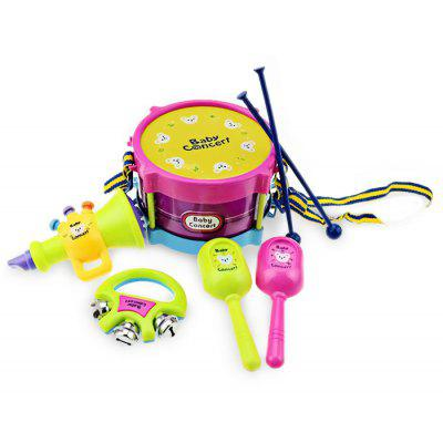 Mini Colorful Toy Musical Instrument Fun and Safe Game ( Sand Hammer / Bell / Drum / Hammer / Horn )
