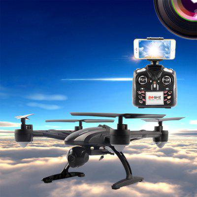 JXD 509W WIFI Real-time Transmission 2.4GHz / APP Control 720P CAM 4CH 6 Axis Gyro Quadcopter Headless ModeRC Quadcopters<br>JXD 509W WIFI Real-time Transmission 2.4GHz / APP Control 720P CAM 4CH 6 Axis Gyro Quadcopter Headless Mode<br><br>Age: Above 14 years old<br>Battery: 3.7V 600mA Lipo<br>Brand: JXD<br>Built-in Gyro: Yes<br>Channel: 4-Channels<br>Detailed Control Distance: About 100m<br>Flying Time: 8-10 mins<br>Functions: Camera, 3D rollover, With light, WiFi Connection, Up/down, Turn left/right, Sideward flight, Forward/backward, FPV, Headless Mode, Height Holding, One Key Automatic Return, One Key Landing, One Key Taking Off<br>Kit Types: RTF<br>Level: Intermediate Level<br>Material: Plastic, Electronic Components<br>Mode: Mode 2 (Left Hand Throttle)<br>Model Power: Built-in rechargeable battery<br>Motor Type: Brushed Motor<br>Night Flight: Yes<br>Package Contents: 1 x Quadcopter, 1 x Transmitter, 1 x Phone Holder, 1 x Screwdriver, 1 x USB Cable, 4 x Propeller, 4 x Propeller Protector, 1 x English Manual<br>Package size (L x W x H): 40.00 x 23.00 x 15.00 cm / 15.75 x 9.06 x 5.91 inches<br>Package weight: 0.9000 kg<br>Product size (L x W x H): 30.00 x 30.00 x 11.00 cm / 11.81 x 11.81 x 4.33 inches<br>Radio Mode: Mode 2 (Left-hand Throttle)<br>Remote Control: 2.4GHz Wireless Remote Control<br>Transmitter Power: 4 x 1.5V AA battery(not included)<br>Type: Quadcopter