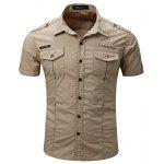 FREDD MARSHALL 55888B Male Casual Short Sleeve Shirt - KHAKI