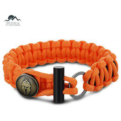 FURA 3 in 1 Survival Paracord Bracket / Flintstone / Mini Knife