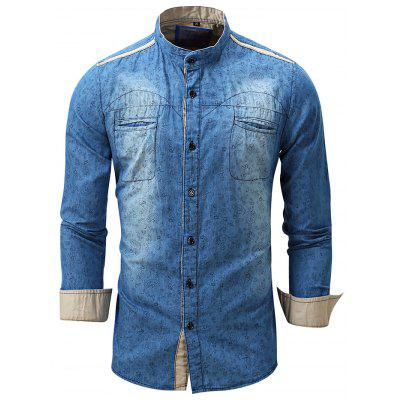 FREDD MARSHALL FM091 Men Casual Pattern Long Sleeve Shirt