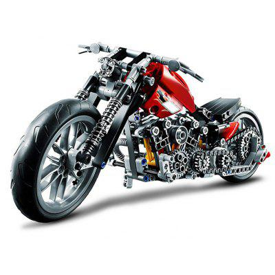 BEILEXING Autocycle Style ABS Cartoon Building Brick - 378szt