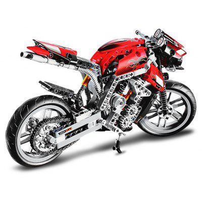 BEILEXING Motorcycle Style ABS Cartoon Building Brick