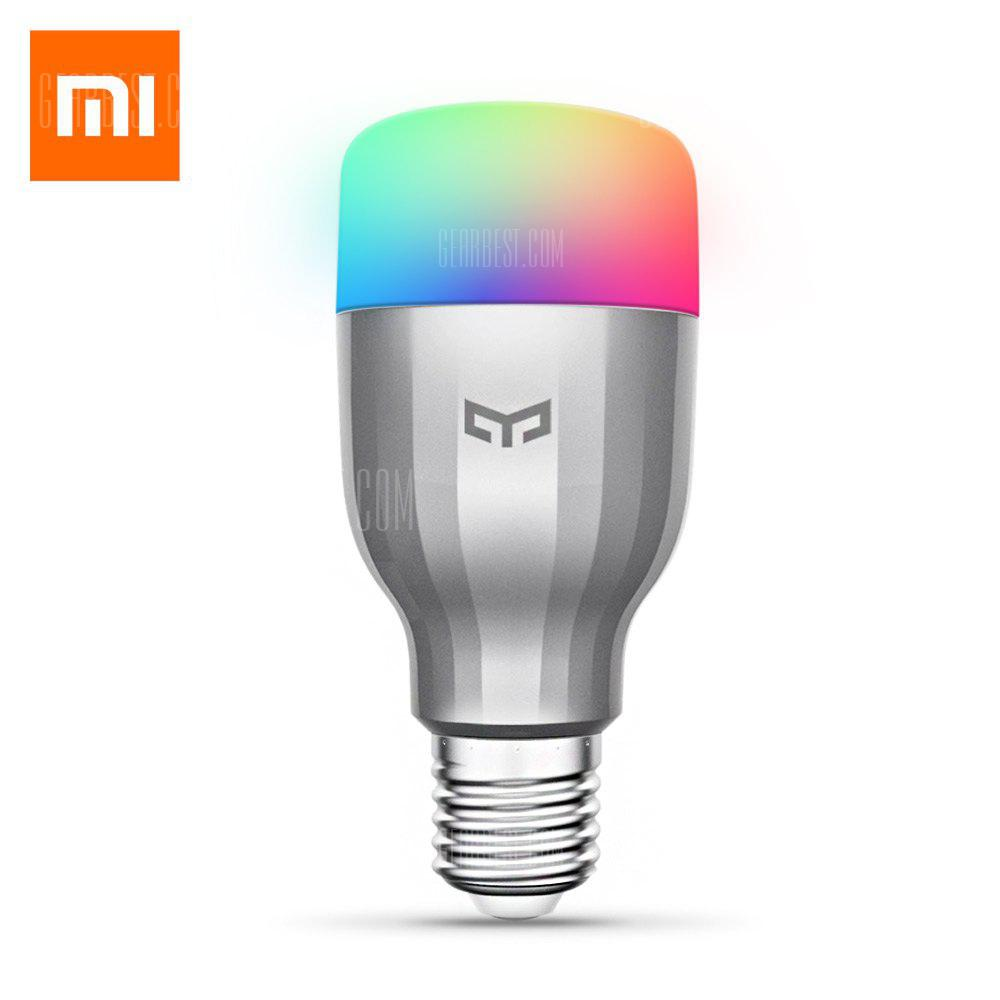 Xiaomi Yeelight AC220V RGBW E27 Smart LED Bulb - argent