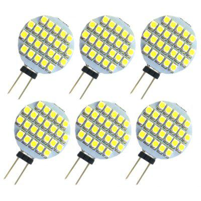 6pcs G4 SMD 3528 3W 150Lm Flat LED Corn Light