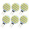 6pcs G4 SMD 3528 3W 150Lm Flat LED Corn Light - WARM WHITE LIGHT