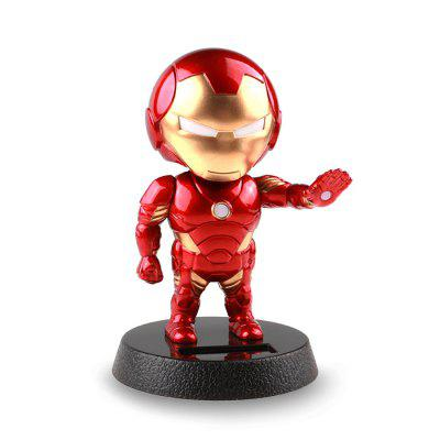 Solar Head-shaking Cartoon Man Creative Decoration for Car / Desk