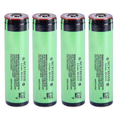 4pcs NCR18650B 3.7V 3400mAh 18650 Li-ion Battery with Protection Board