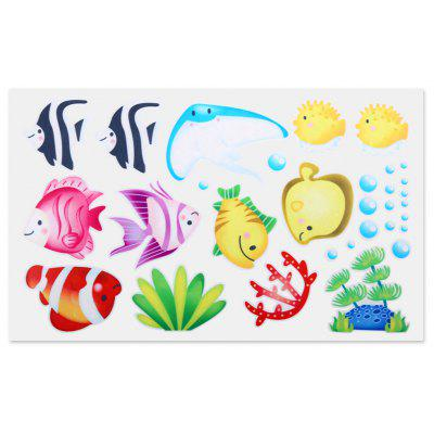 S004 Bathroom Shower Door Glass Sticker Cartoon Decal