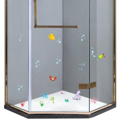 S001 Bathroom Shower Door Glass Sticker Cartoon Decal