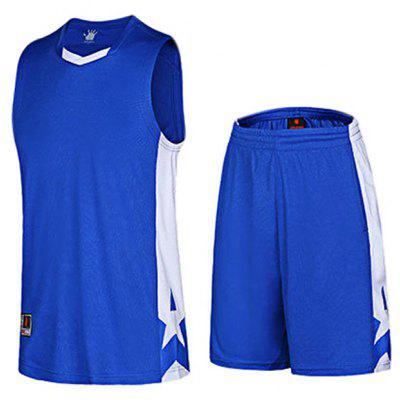 Men Breathable Sleeveless Basketball Suit for Exercising