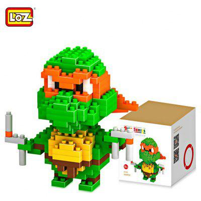LOZ 200 Pcs M - 9150 Teenage Mutant Ninja Turtles Michelangelo Building Block Educational Assembling Boy Girl Gift for Spatial Thinking