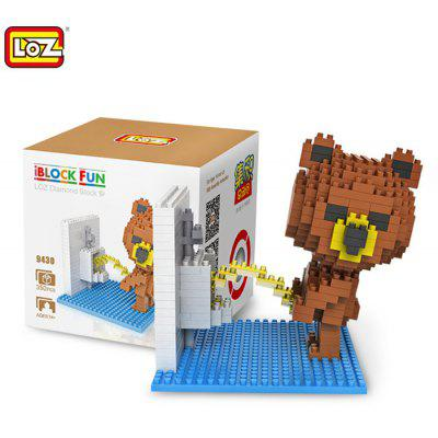 LOZ 350Pcs 9430 Washroom Brown Bear Figure Building Block Toy for Enhancing Social Cooperation Ability 165530101