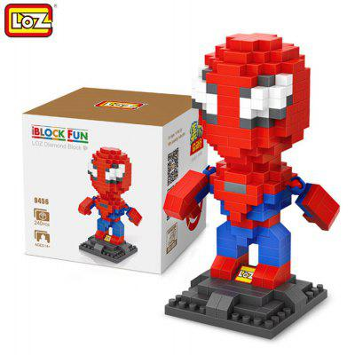 LOZ 240Pcs L - 9456 Superhero Building Block Toy for Enhancing Social Cooperation Ability