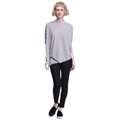 IRINA MIRO Female Batwing-sleeve Pure Color Loose Shirt