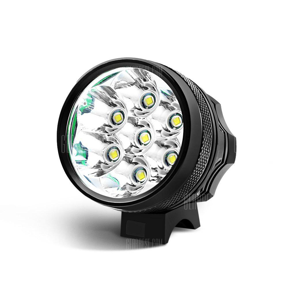 Marsing MS - 07 6000Lm Cree XML T6 7 LED Bicycle Light Set - BLACK