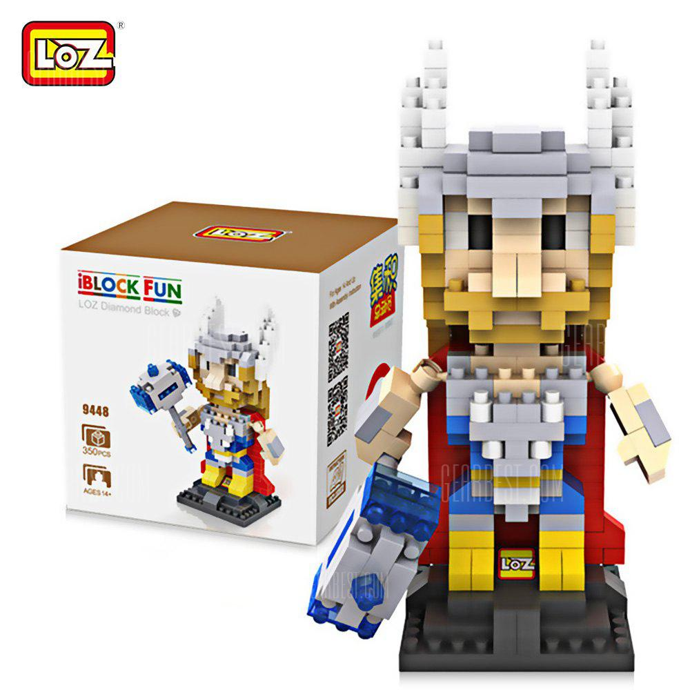 LOZ 35Avengers L - 9448 Thor Building Block Toy Improving Social Cooperation Ability COLORMIX
