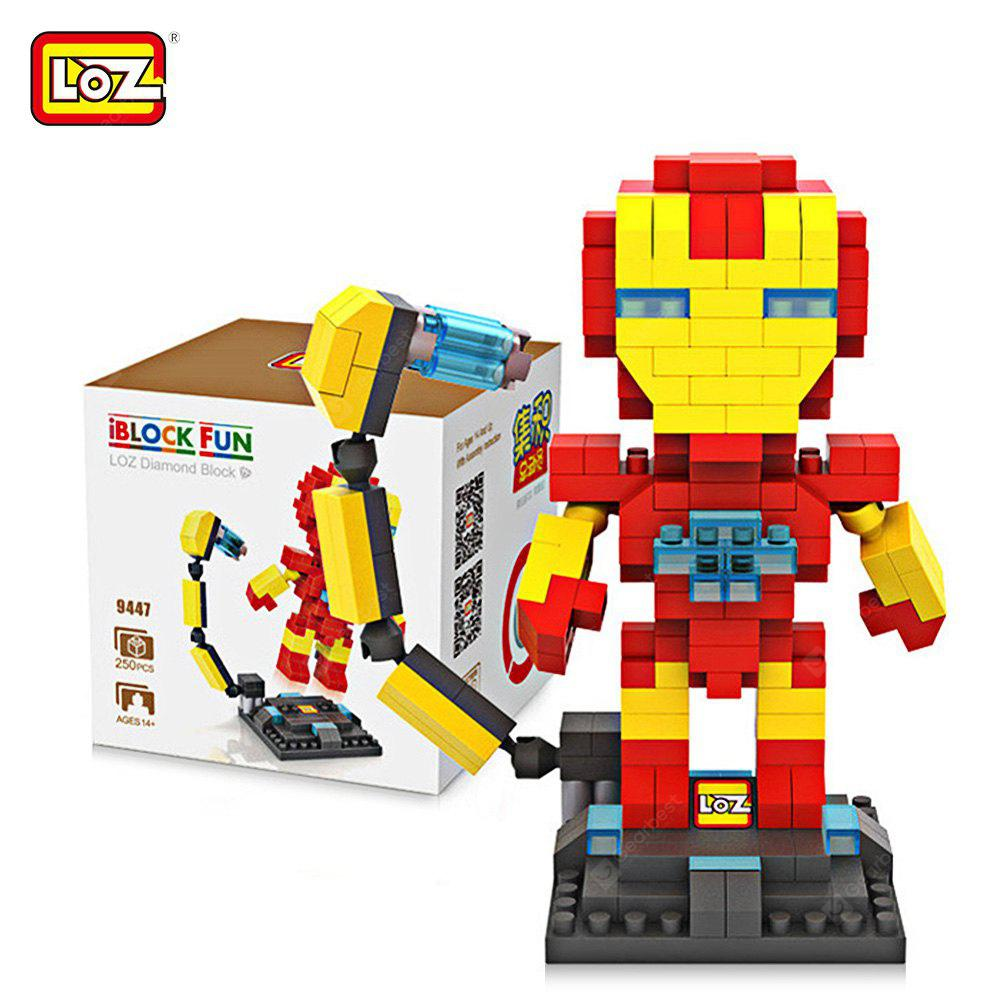 LOZ 25L - 9447 Avengers Iron Man Building Block Toy Enhancing Social Cooperation Ability YELLOW AND RED
