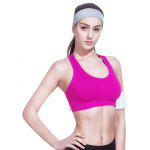 Nan Ji Ren Sports Yoga Fitness Bra Padded No Rims for Female - ROSE