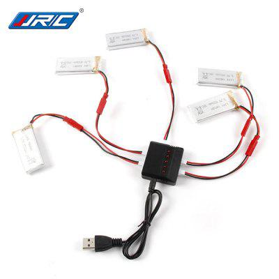 Spare 5 x 3.7V 850mAh Battery + Balance Charger / Cable Set for JXD 509G 510G LIDI L6W L6F JJRC H12W RC Model