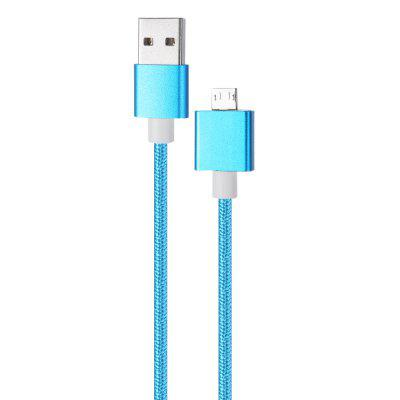 1m Nylon Braided Magnetic Micro USB Charge Data Sync Cable