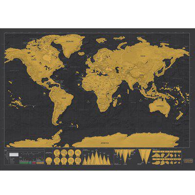 Large Size Personalized Scratch-off World Map Poster Travel Toy - 16.6 x 11.8 inchClassic Toys<br>Large Size Personalized Scratch-off World Map Poster Travel Toy - 16.6 x 11.8 inch<br><br>Age: 9 Years+<br>Features: Creative Toy<br>Materials: Paper<br>Package Contents: 1 x Scratch-off Map, 1 x Round Tube<br>Package size: 32.00 x 5.50 x 5.50 cm / 12.6 x 2.17 x 2.17 inches<br>Package weight: 0.1220 kg<br>Product size: 42.30 x 30.00 x 0.20 cm / 16.65 x 11.81 x 0.08 inches<br>Product weight: 0.0250 kg<br>Series: Fashion<br>Theme: Other<br>Type: Map