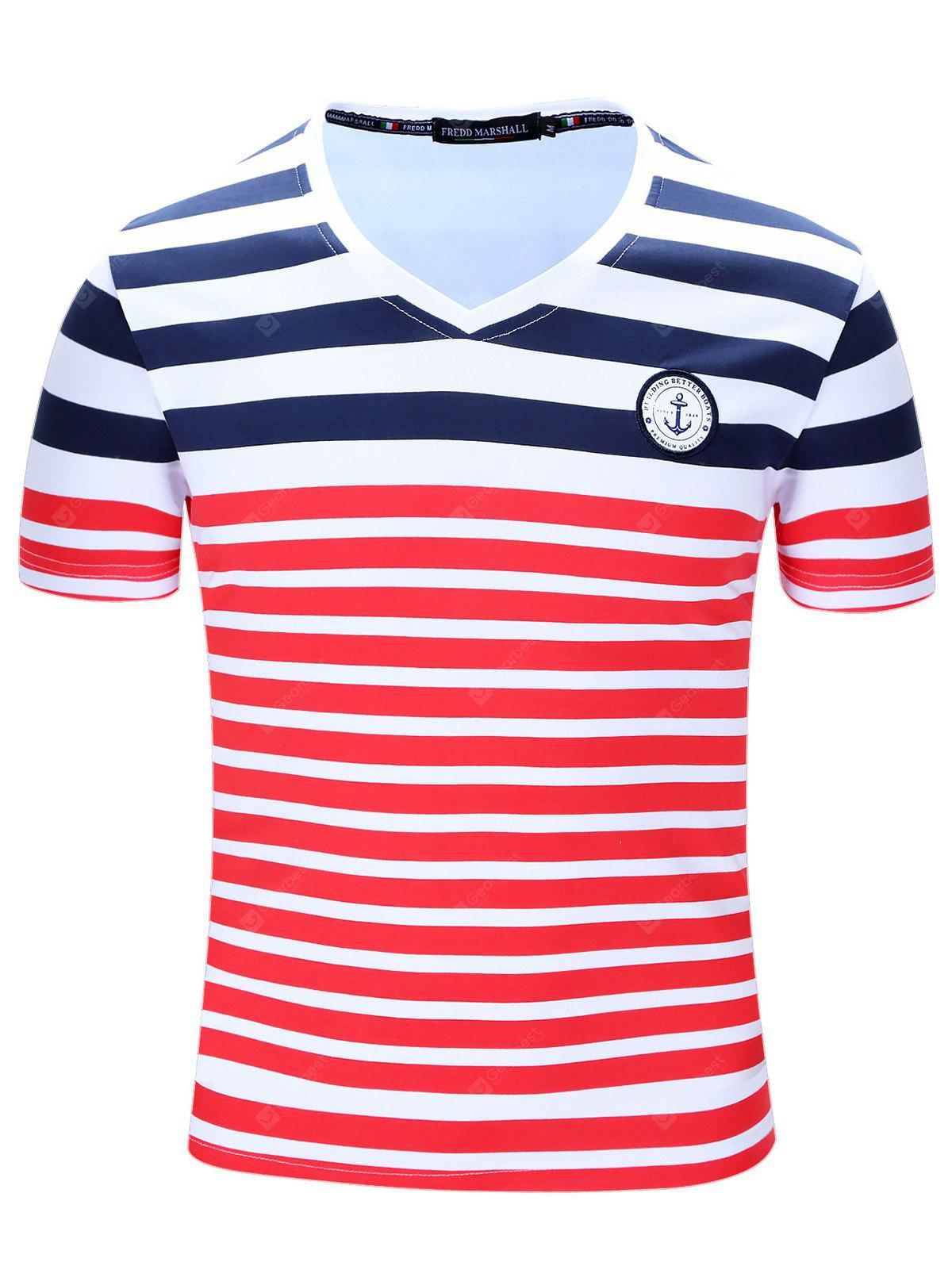 FREDDMARSHALL Striped T Shirt