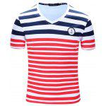 FREDDMARSHALL Striped T Shirt - RED