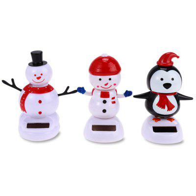 Solar Shaking Snowman Environment-friendly Ornamentation