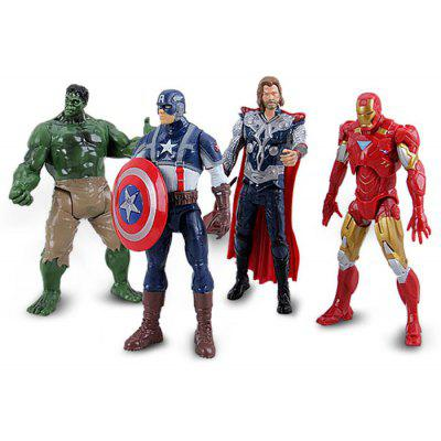 Justice League 4pcs/lot PVC Heroes Figure/Figurine Models