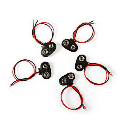 5PCS 9V Soft Shell Battery Buckle